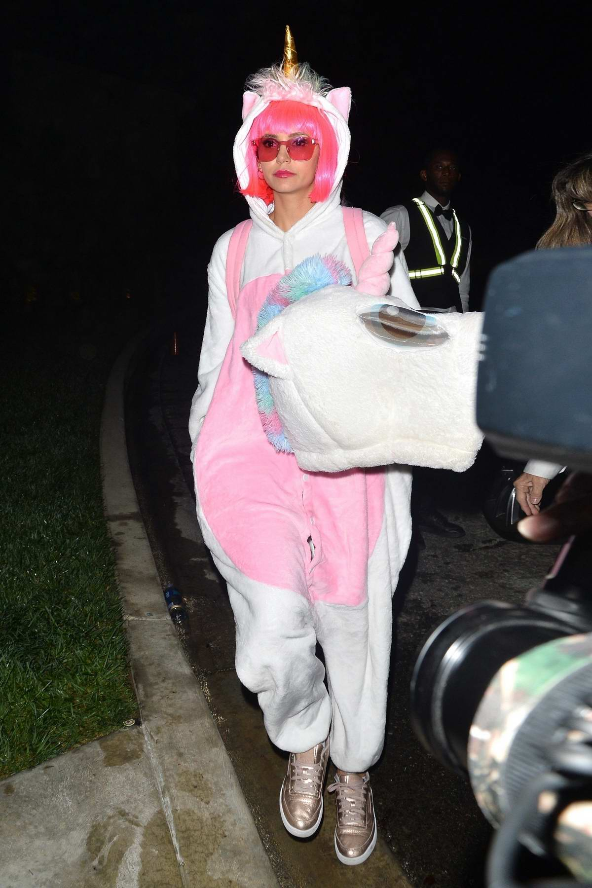 Nina Dobrev attends Kate Hudson's Halloween Party in West Hollywood, Los Angeles