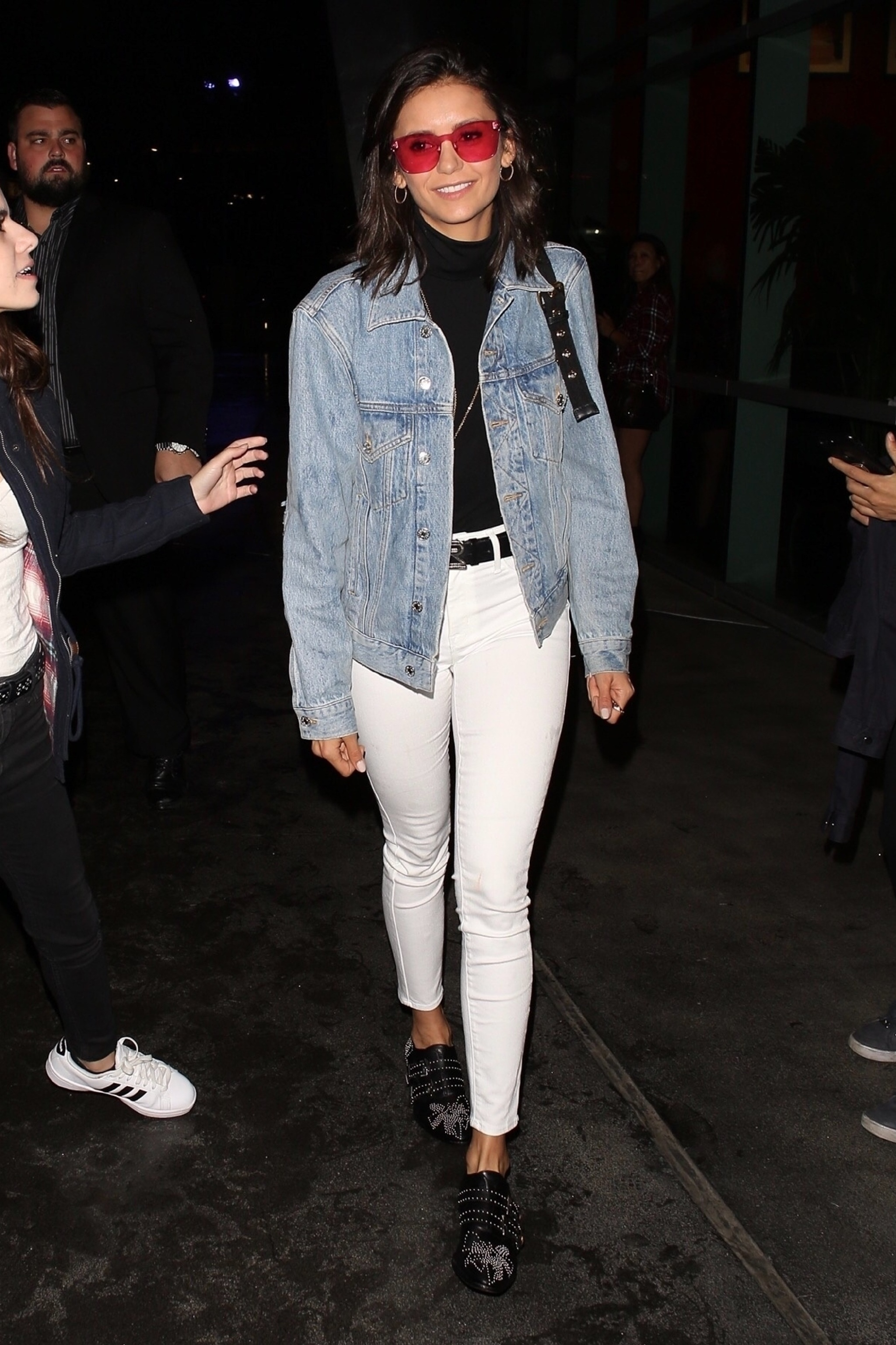 Nina Dobrev stops by the Staples Center for Drake and Migos concert in Los Angeles