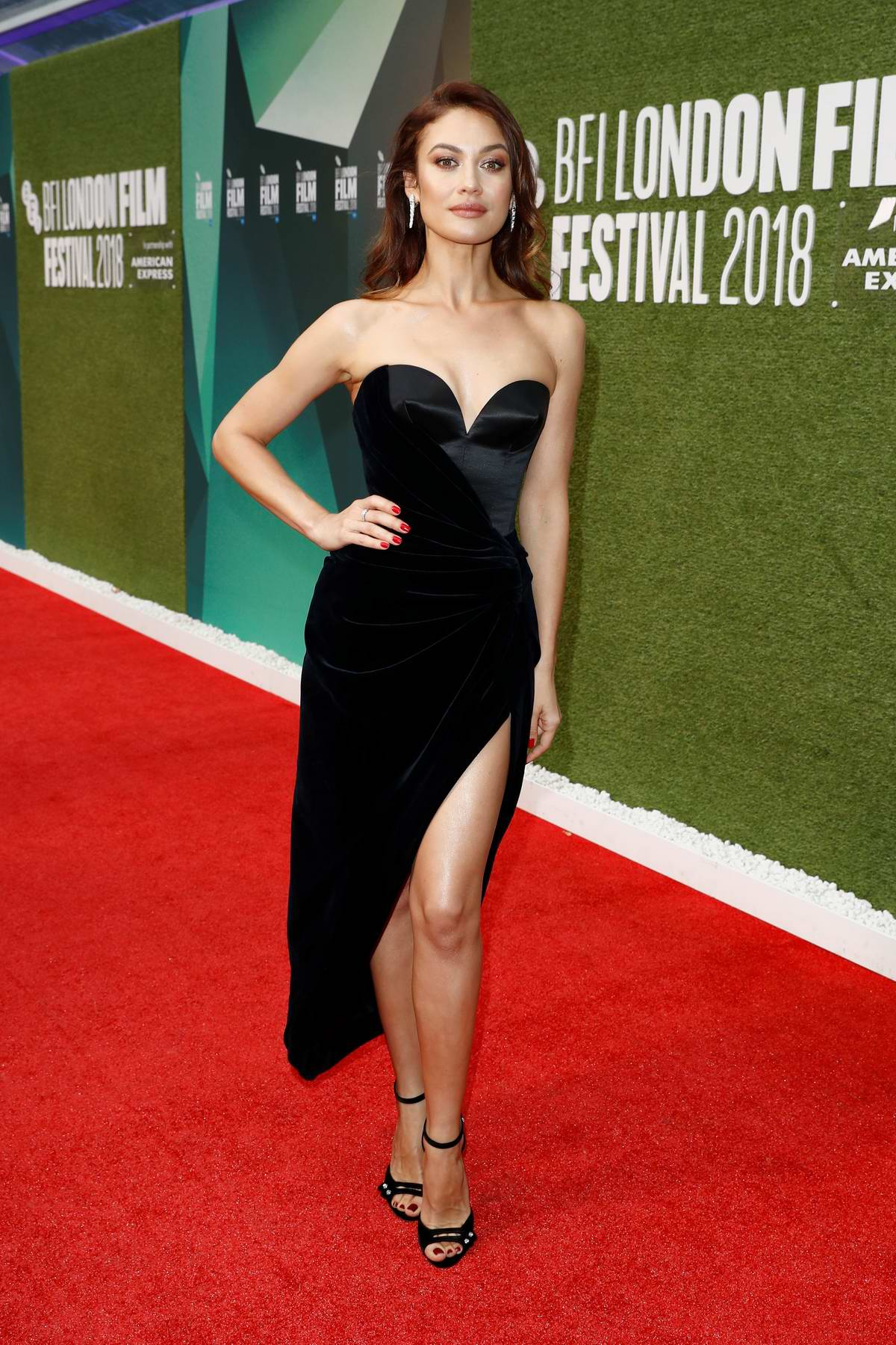 Olga Kurylenko attends 'The Man Who Killed Don Quixote' and Laugh Gala at the 62nd BFI London Film Festival in London, UK