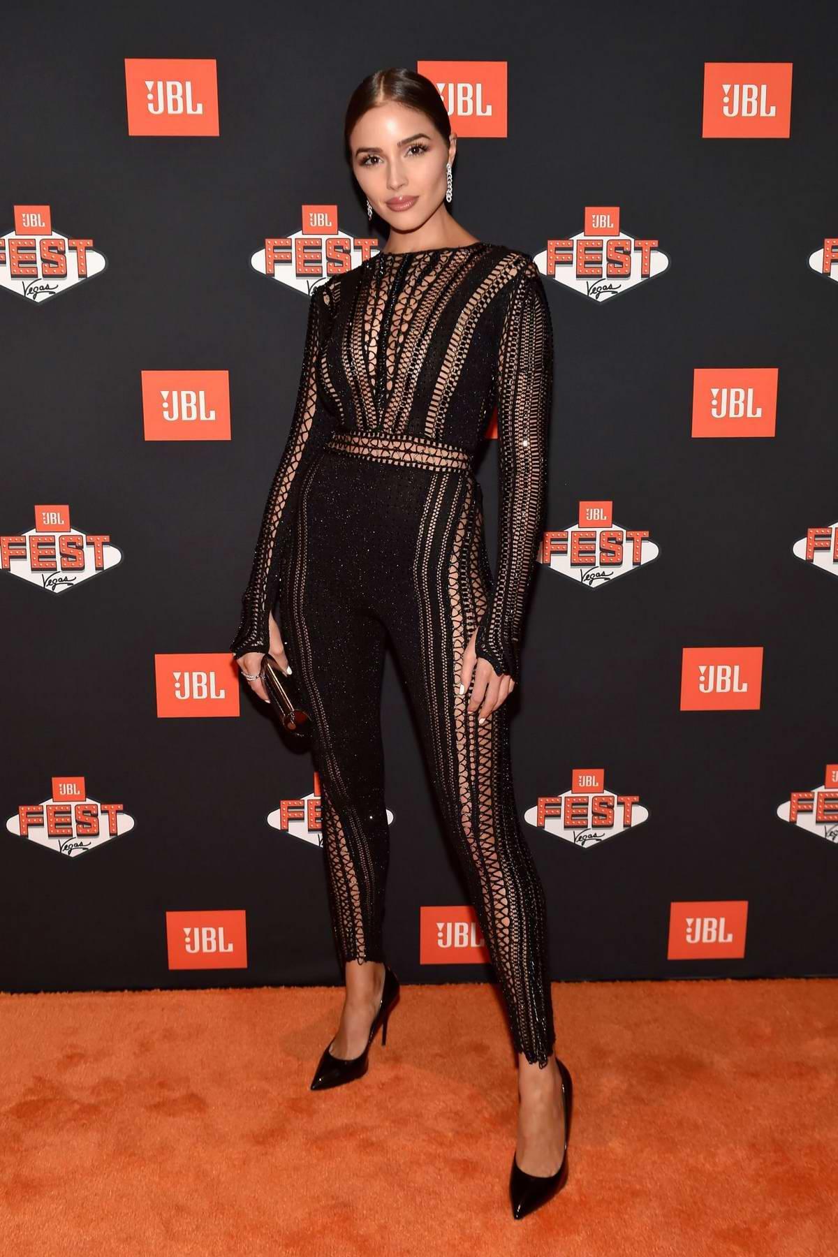 Olivia Culpo at the JBL Fest 2018 at Caesars Palace in Las Vegas, Nevada
