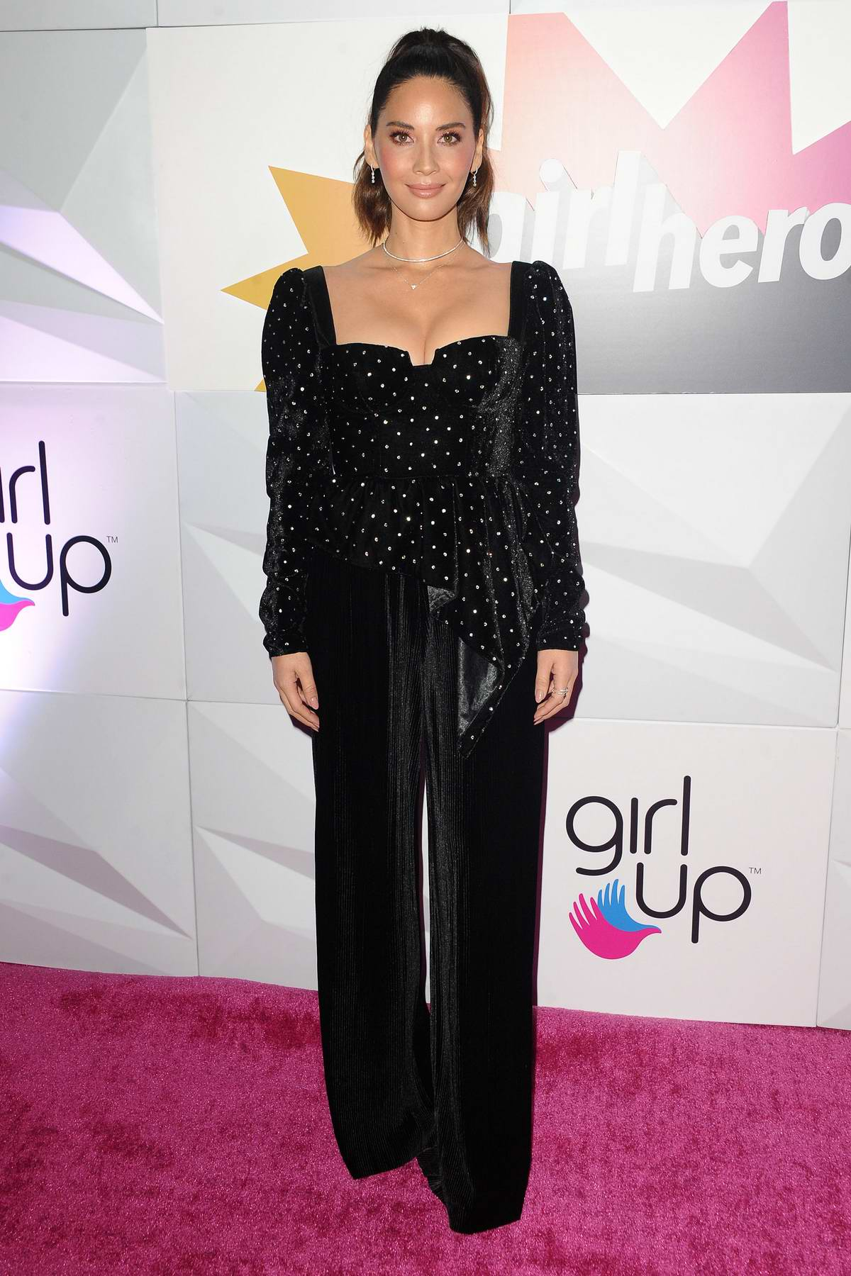 Olivia Munn attends Girl Up's Inaugural #GirlHero Awards Luncheon at SLS Hotel in Beverly Hills, Los Angeles