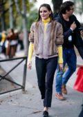Olivia Palermo seen outside John Galliano Show during Paris Fashion Week in Paris, France