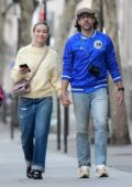 Olivia Wilde and Jason Sudeikis walk hand in hand while wandering the streets of Paris, France