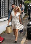 Pamela Anderson arrives at her rehearsal for 'Strictly Come Dancing' in Paris, France