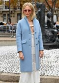 Poppy Delevingne attending the Miu Miu show during Paris Fashion Week in Paris, France