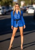 Rachel McCord dons multiple outfits during a photoshoot in Los Angeles