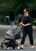 Rachel Weisz seen while out for a walk with her baby in East Village, New York City