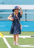Reese Witherspoon and husband Jim Toth take their son to soccer practice in Los Angeles