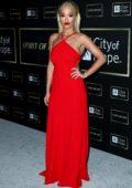 Rita Ora attends the City Of Hope Gala 2018 at The Barker Hanger in Santa Monica, California