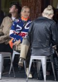 Rita Ora enjoys lunch with her friends at The Walmer Castle in Notting Hill, UK