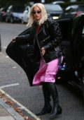 Rita Ora seen leaving Bodyism gym before visiting a recording studio in London, UK