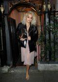 Rita Ora spotted leaving Annabel's club in London, UK