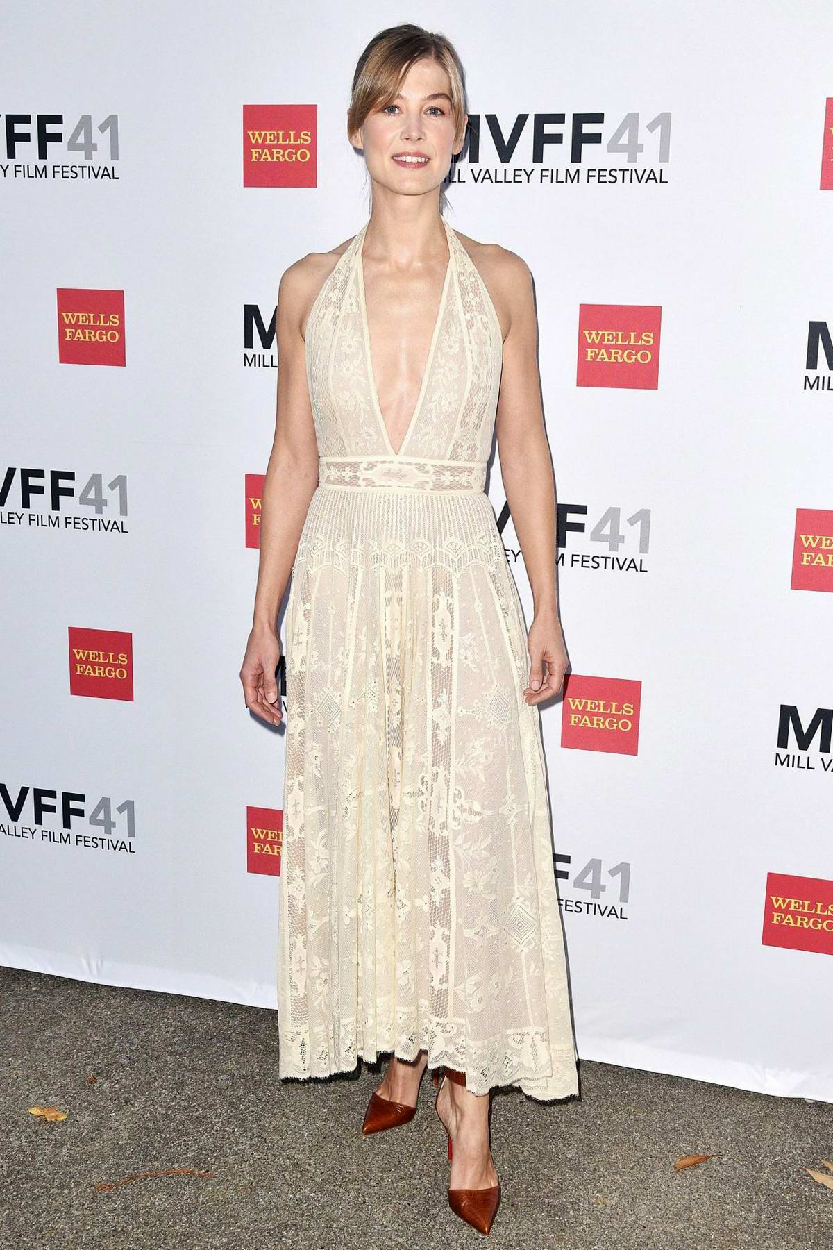 Rosamund Pike attends Mill Valley Film Festival (MVFF) Opening Reception in Mill Valley, California