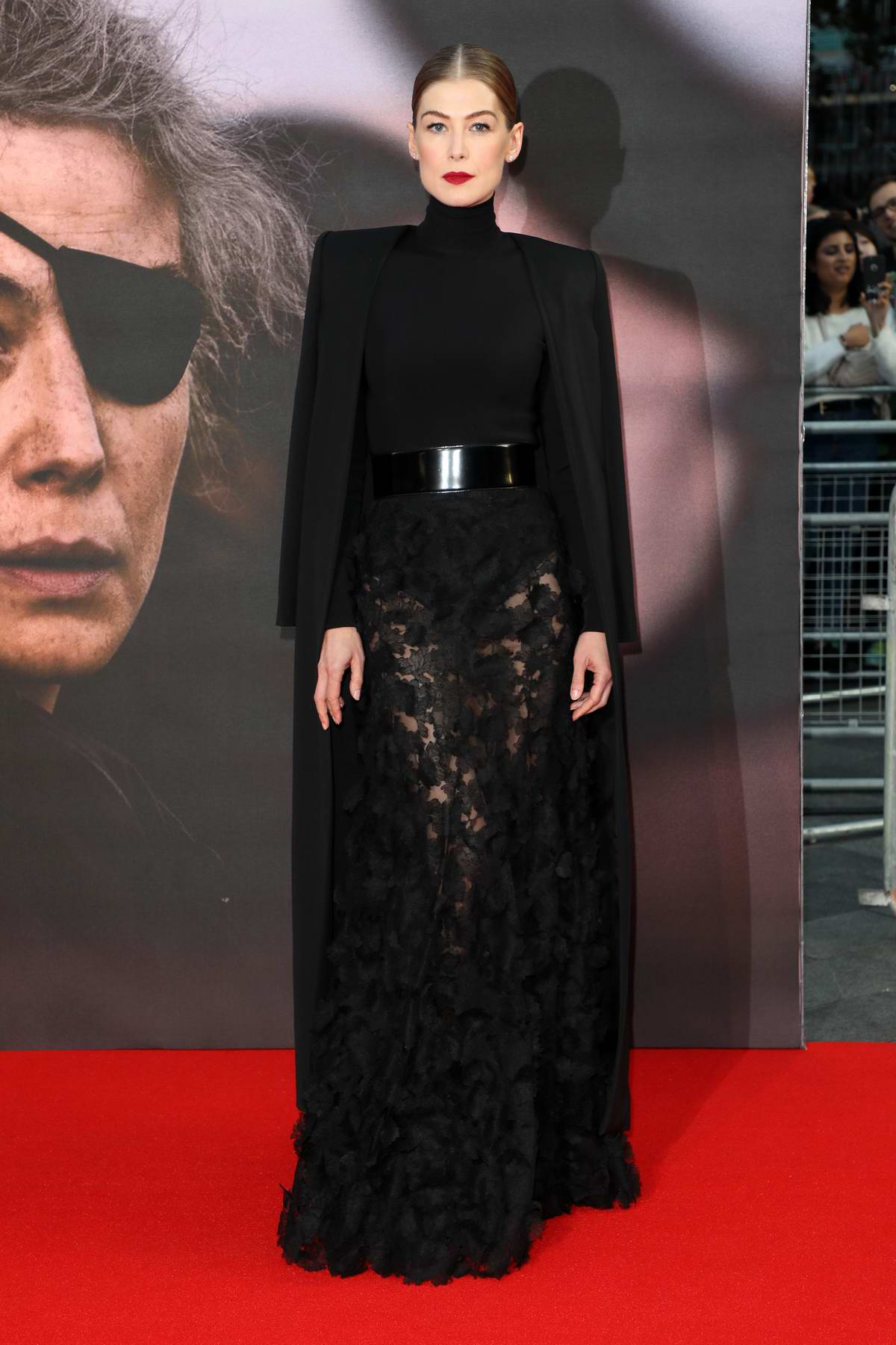 Rosamund Pike attends the European Premiere of 'A Private War' during 62nd BFI London Film Festival 2018 in London, UK