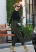 Rosie Huntington-Whiteley makes a visit to Lancer Dermatology before arriving home in Beverly Hills, Los Angeles