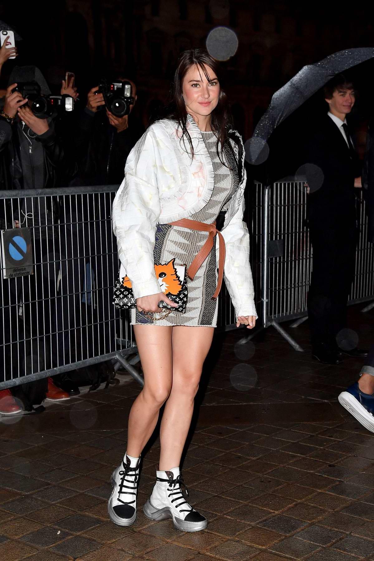 Shailene Woodley attending the Louis Vuitton show during Paris Fashion Week in Paris, France