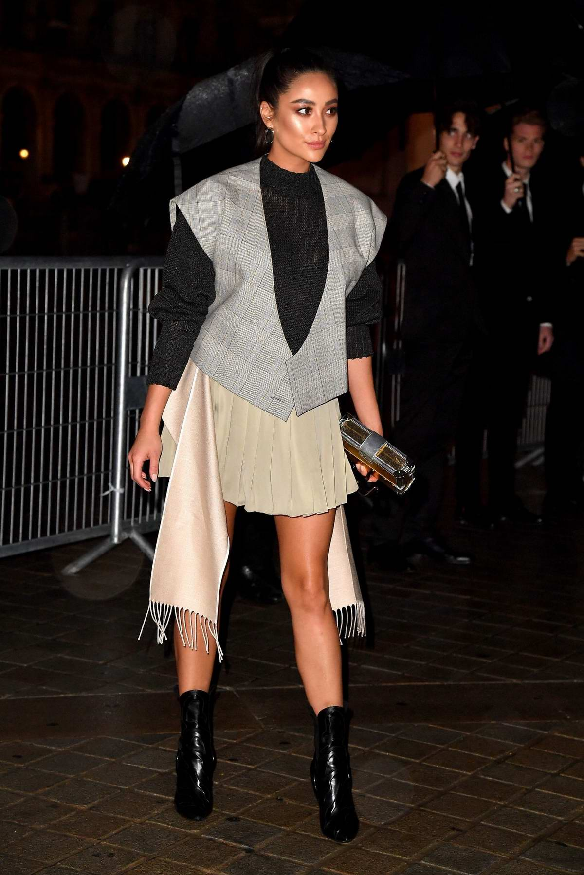Shay Mitchell attending the Louis Vuitton show during Paris Fashion Week in Paris, France