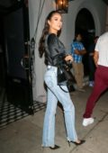 Shay Mitchell seen leaving with a male friend after dinner at Craig's in West Hollywood, Los Angeles
