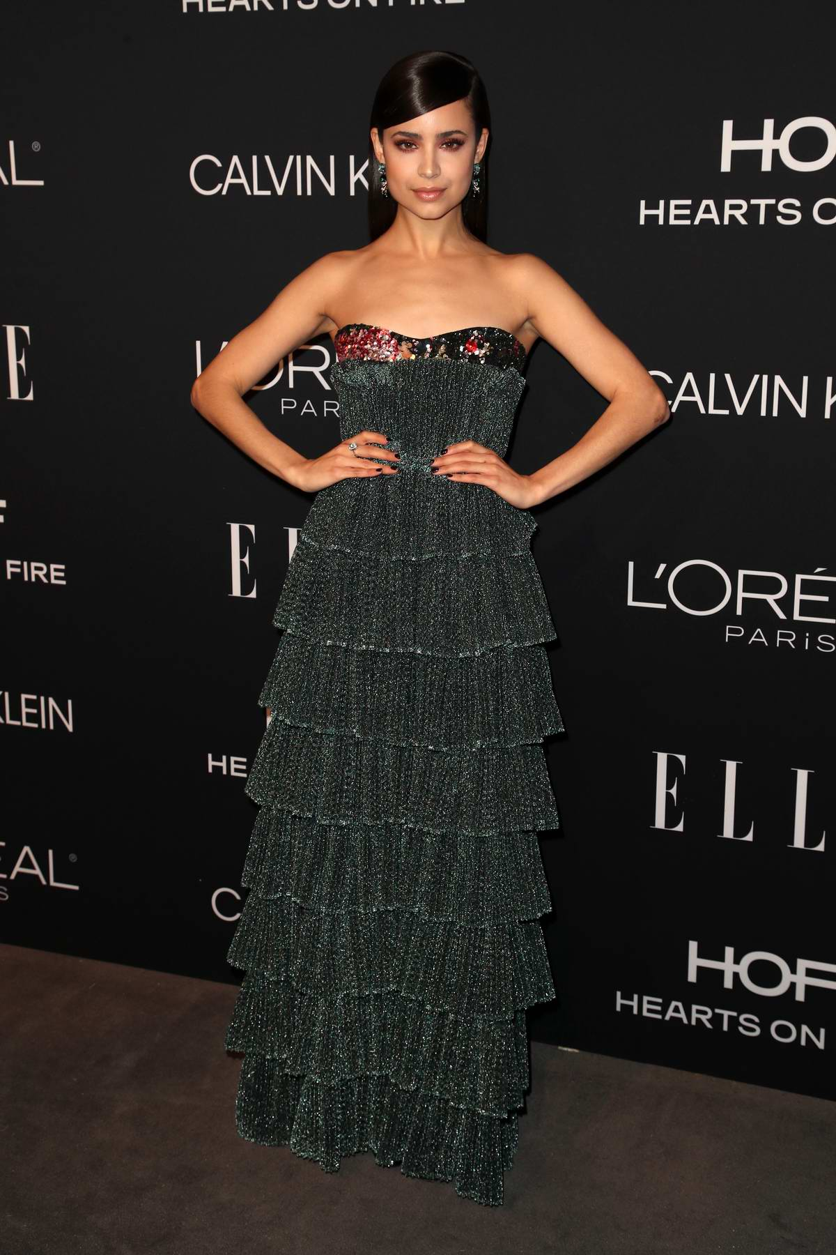 Sofia Carson attends ELLE's 25th Annual Women In Hollywood Celebration at the Four Seasons Hotel in Beverly Hills, Los Angeles