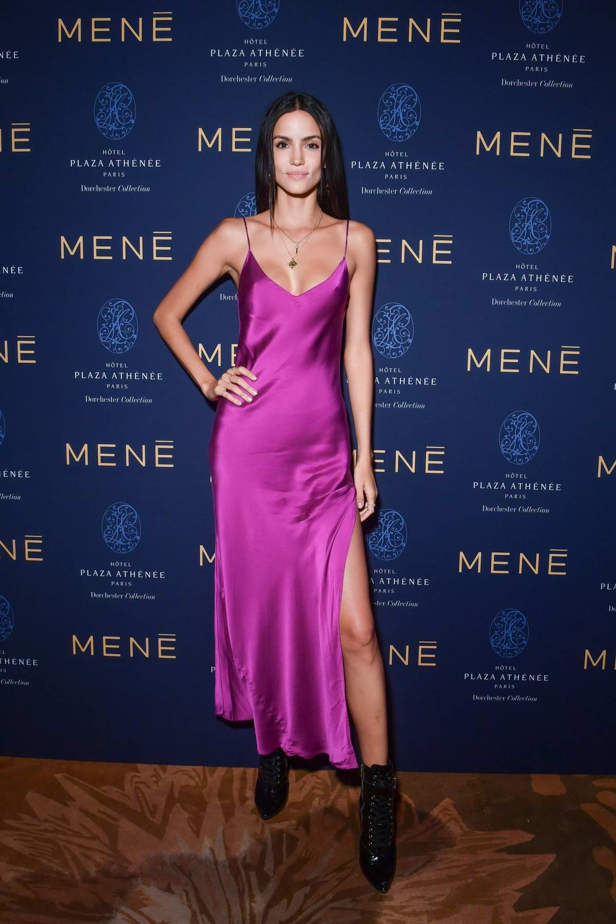 Sofia Resing attends the Mene Cocktail during Paris Fashion Week in Paris, France