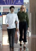 Sophie Turner and Joe Jonas arrives at the Charles de Gaulle airport in Paris, France