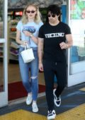 Sophie Turner and Joe Jonas hits the gas station for snacks on the sunset strip before some shopping in West Hollywood, Los Angeles