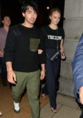 Sophie Turner and Joe Jonas leaves after dinner at 34 Restaurant in Mayfair, London, UK