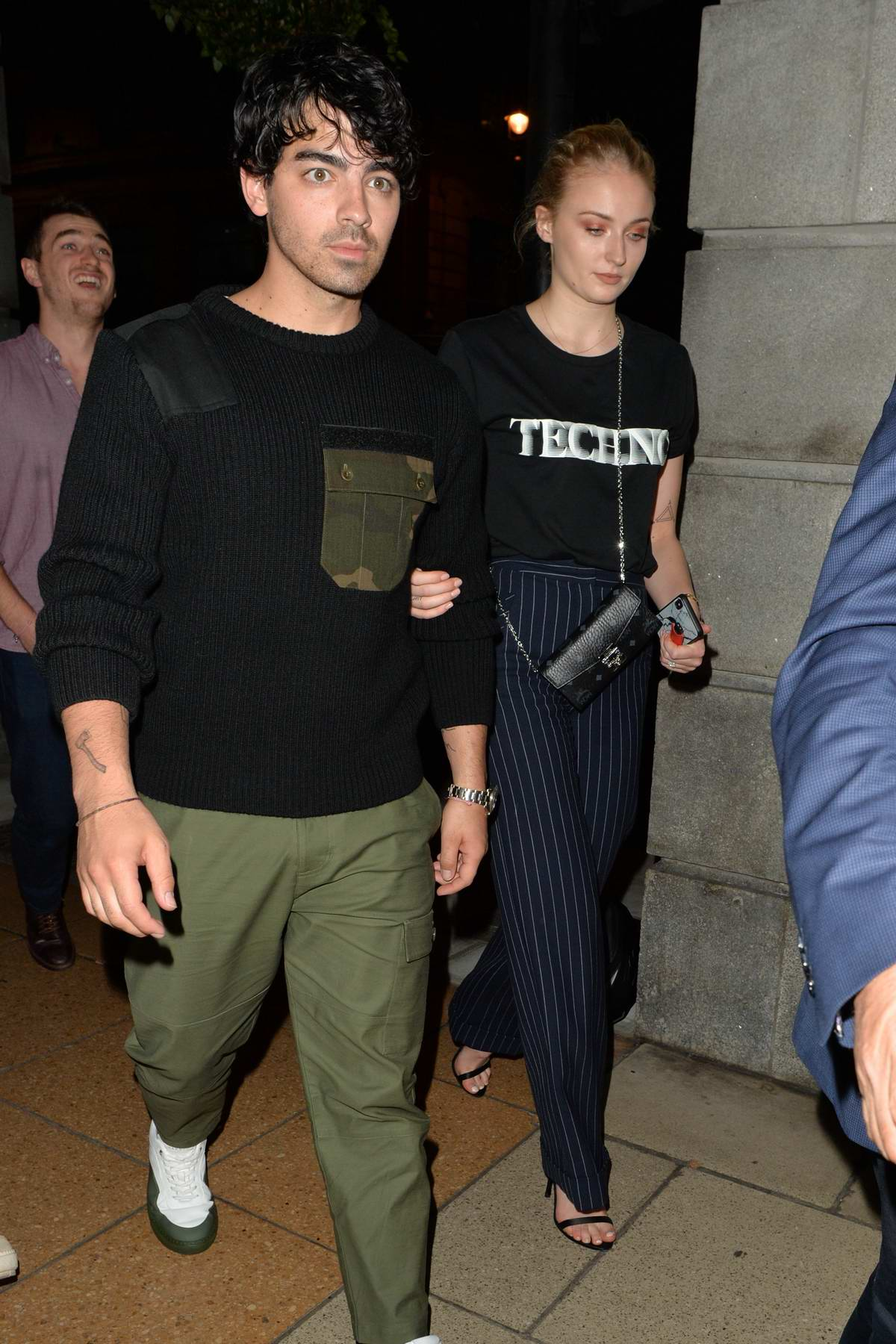 Sophie Turner and Joe Jonas leaves after dinner at 34 Restaurant in Mayfair, London, UK