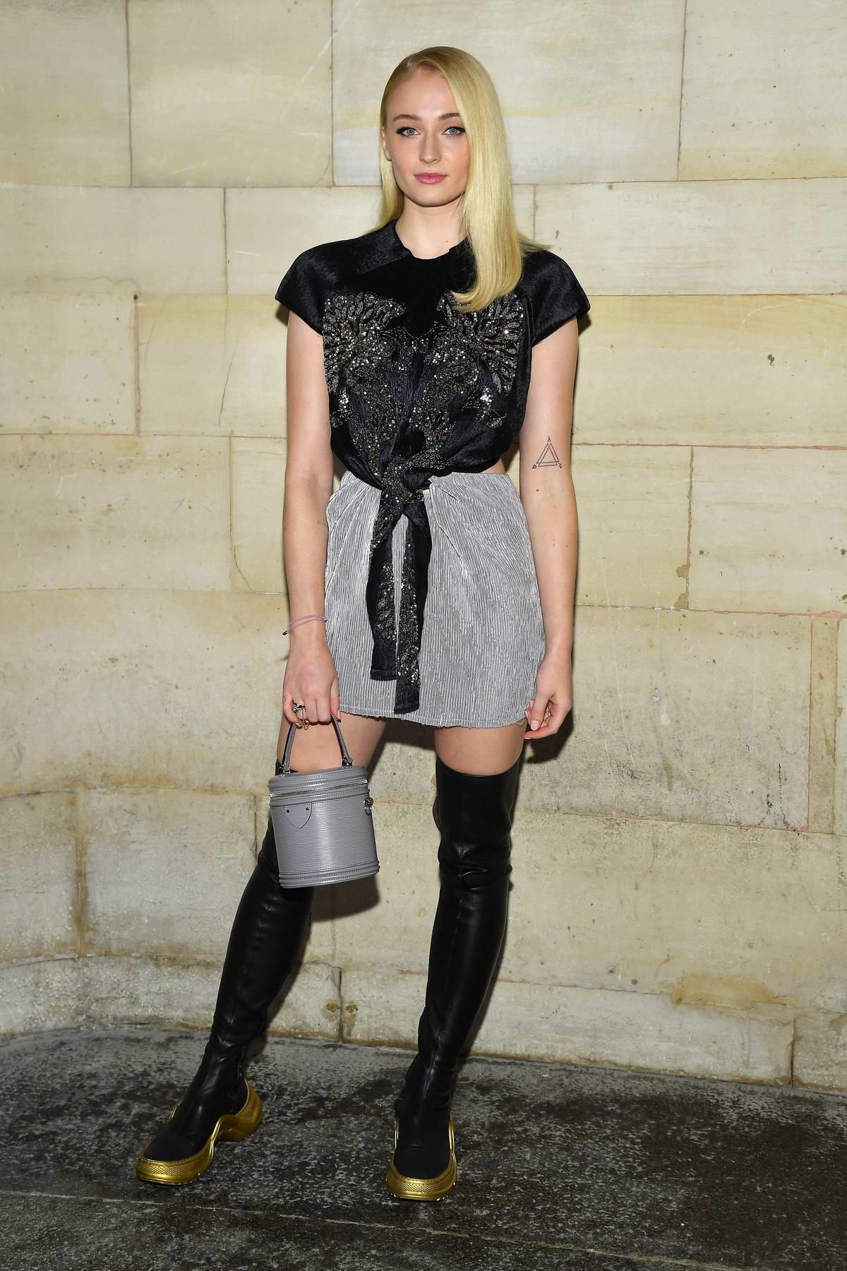 Sophie Turner attending the Louis Vuitton show during Paris Fashion Week in Paris, France