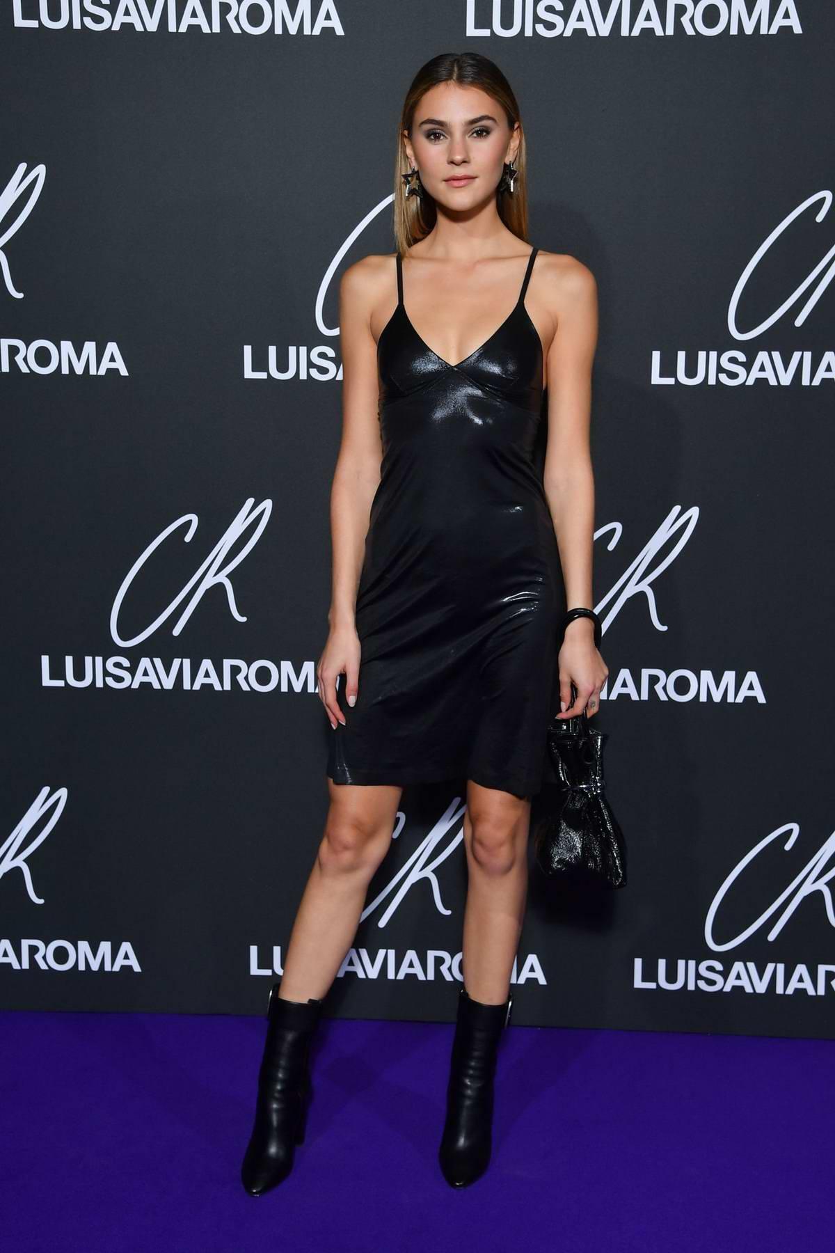 Stefanie Giesinger attends the CR Fashion Book x Luisasaviaroma photocall during Paris Fashion Week in Paris, France