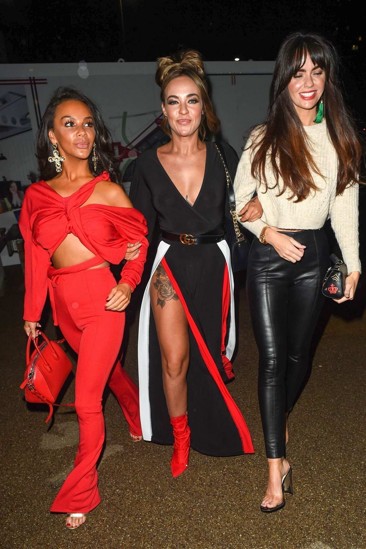 Stephanie Davis, Jennifer Metcalfe & Chelsee Healey enjoys a girls night out at Menagerie Restaurant & Bar in Manchester, UK