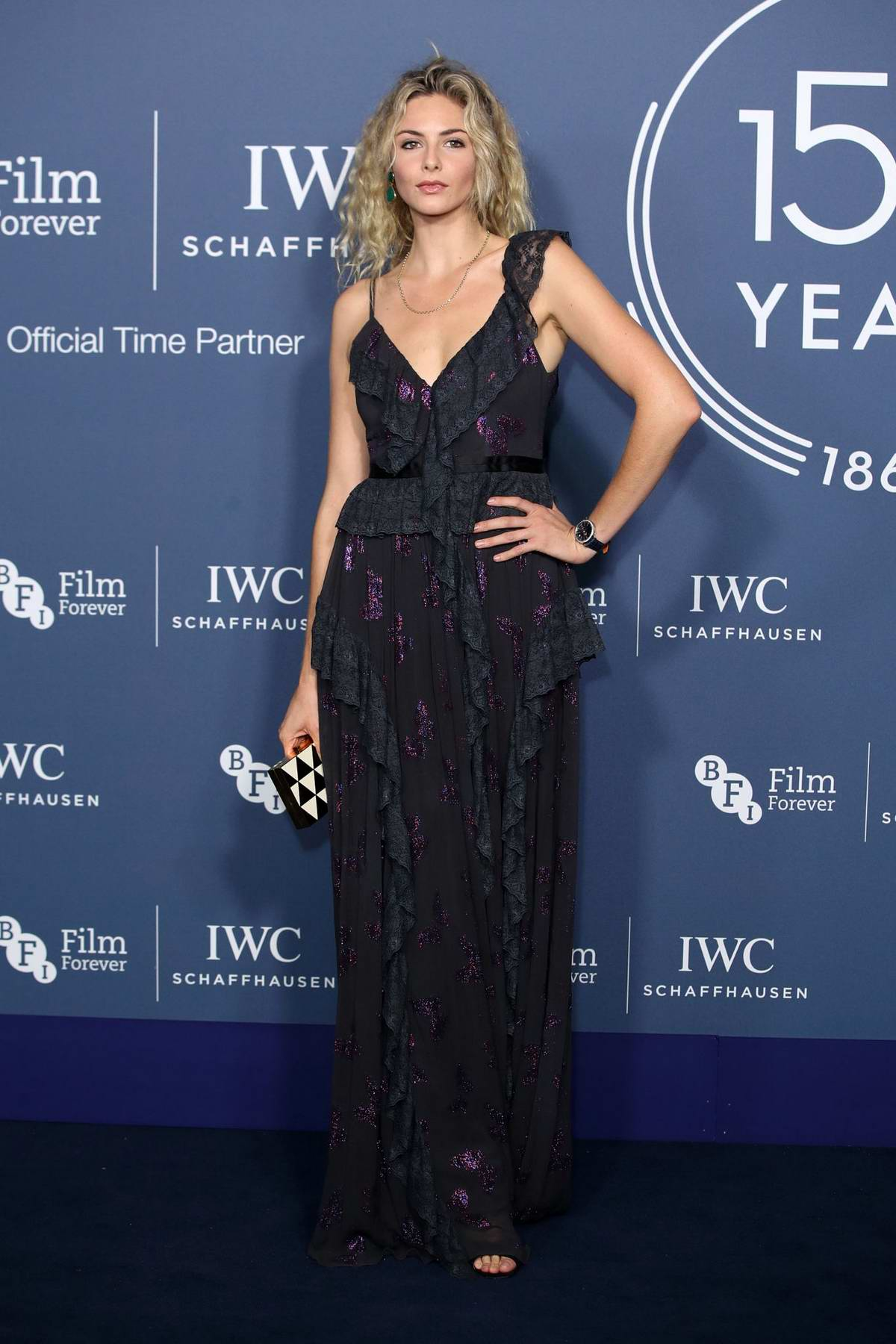 Tamsin Egerton attends the IWC Schaffhausen Filmmaker Bursary Award ceremony in London, UK