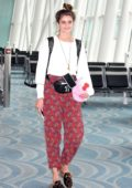 Taylor Hill arrives at Haneda airport to catch a flight out of Tokyo, Japan