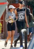 Vanessa Hudgens and Austin Butler cuddled up while enjoying lunch after a workout in Studio City, Los Angeles