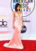 Vanessa Hudgens attends 2018 American Music Awards (AMA 2018) at Microsoft Theater in Los Angeles