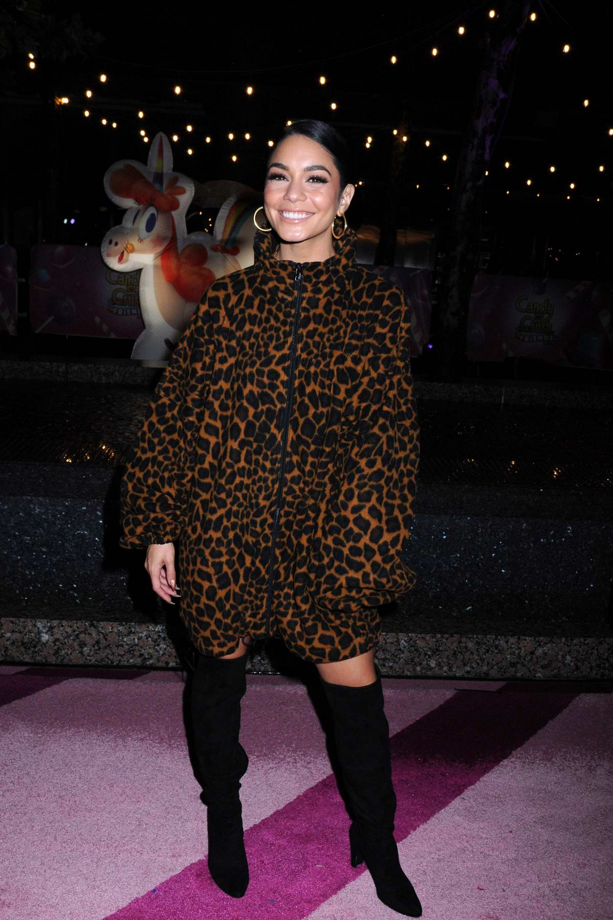 Vanessa Hudgens attends the Candy Crush Friends Saga Global Launch Event at Brookfield Place in New York City