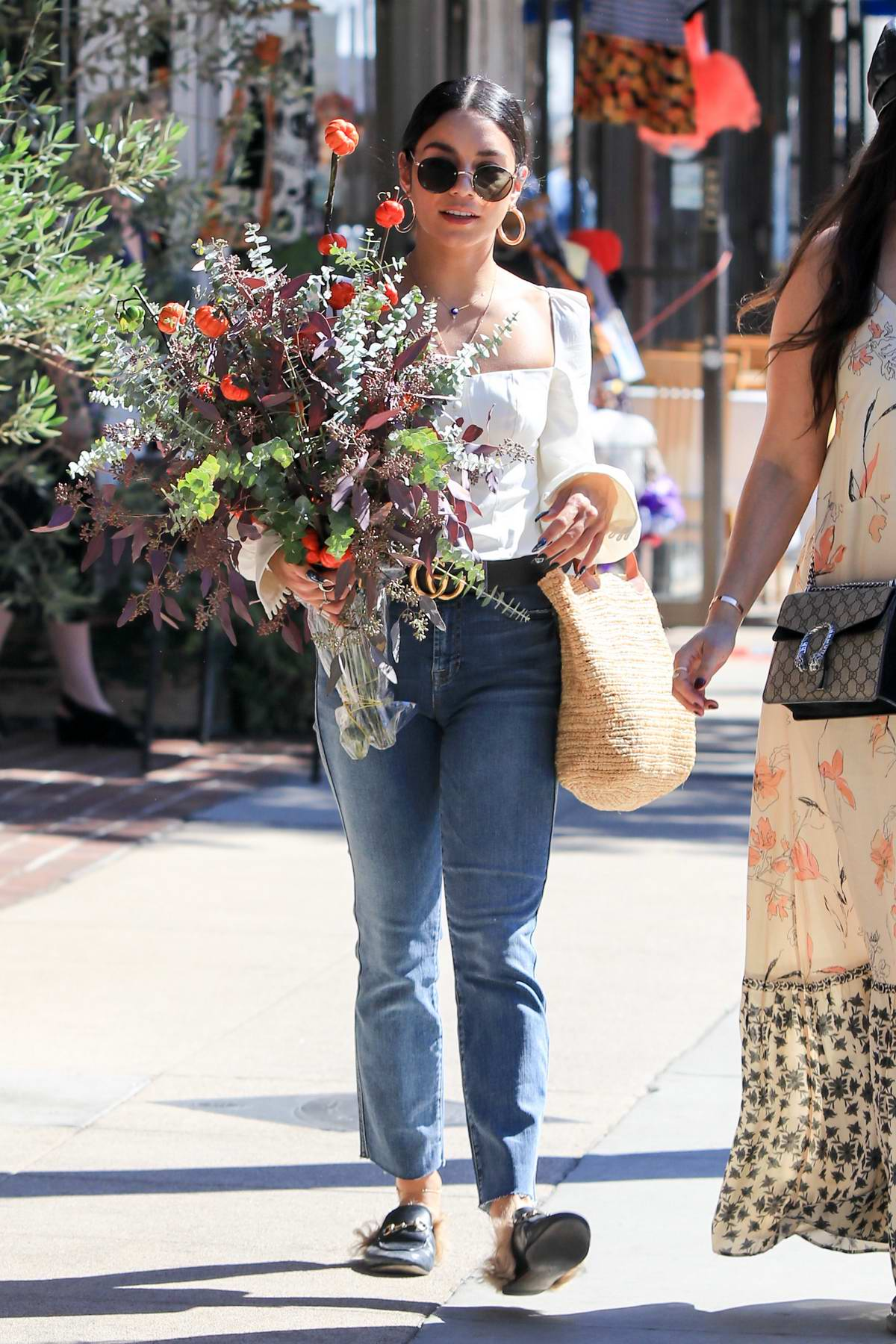 Vanessa Hudgens spends her morning out shopping at the farmers market in Los Angeles