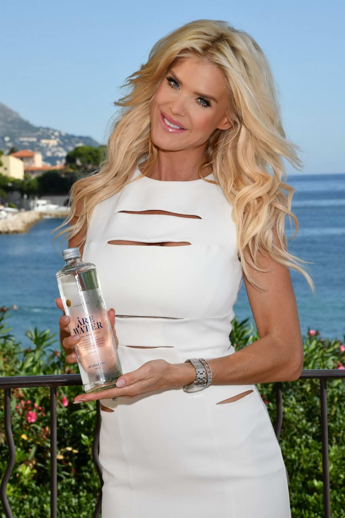 Victoria Silvstedt is the new face of Swedish water 'Are Water' in Saint-Jean-Cap-Ferrat, France