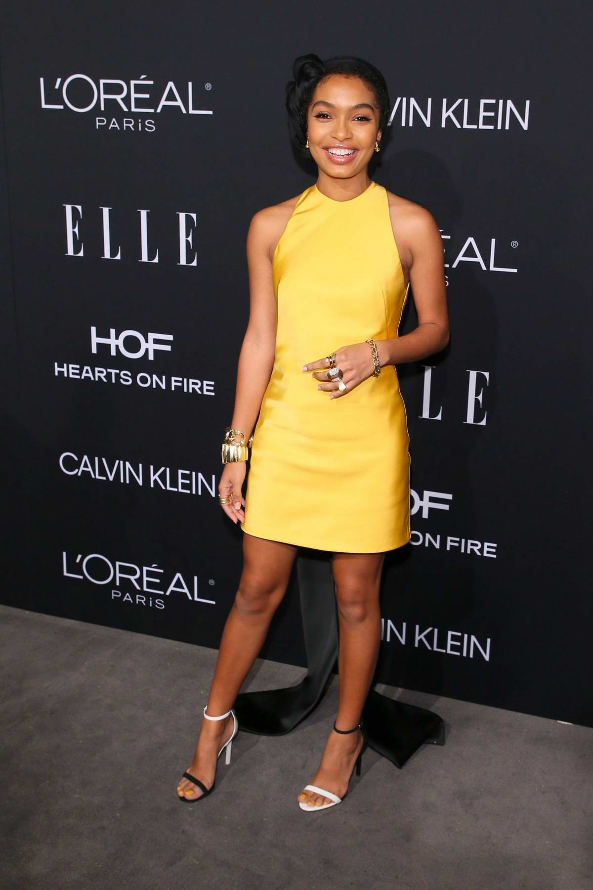 Yara Shahidi attends ELLE's 25th Annual Women In Hollywood Celebration at the Four Seasons Hotel in Beverly Hills, Los Angeles