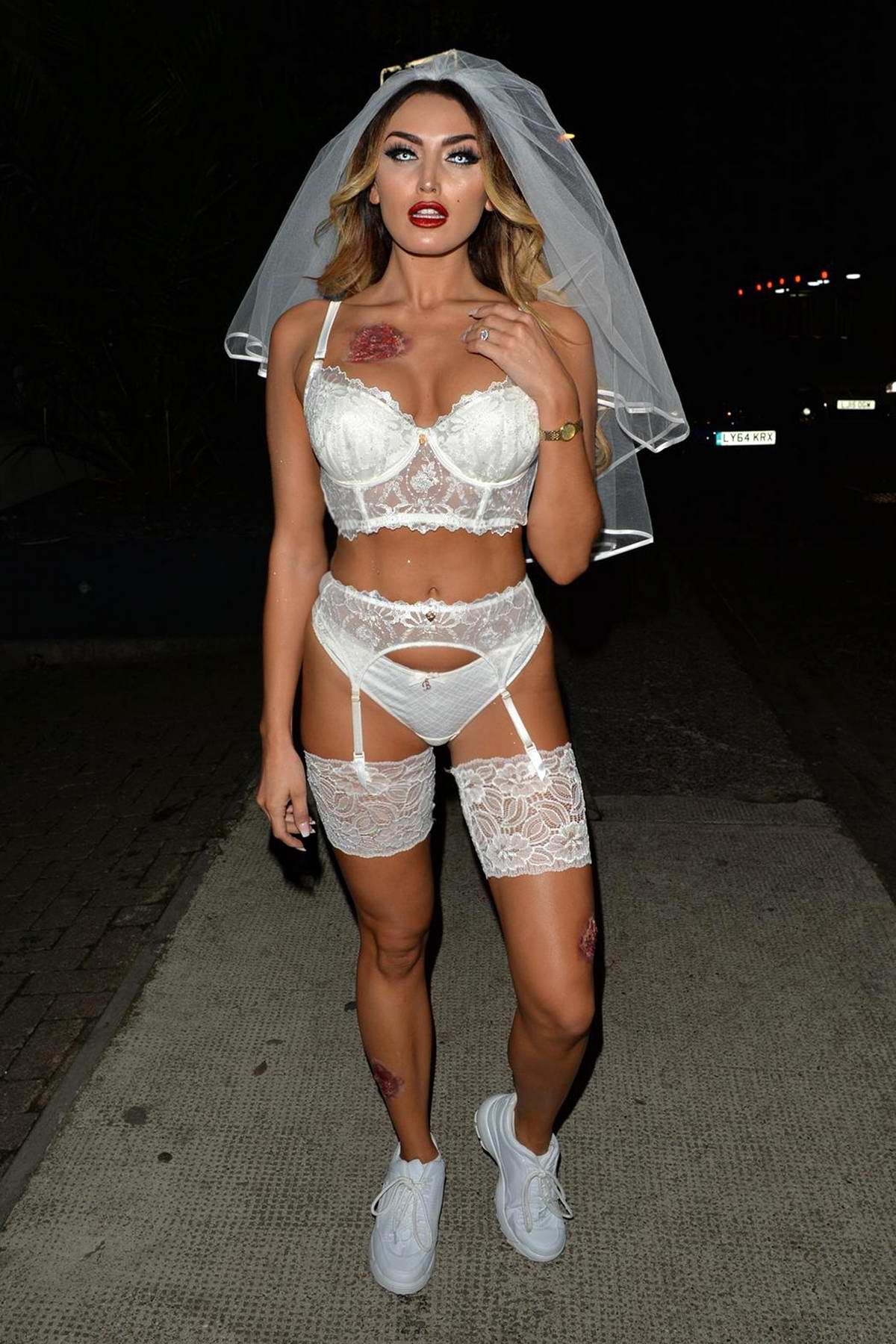 Zaralena Jackson seen at Swankeys Halloween Party in London, UK