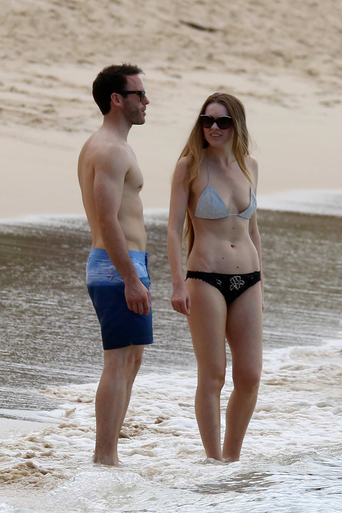Zoe Salmon spotted in a bikini at Sandy Lane beach while on holiday with her husband in Barbados