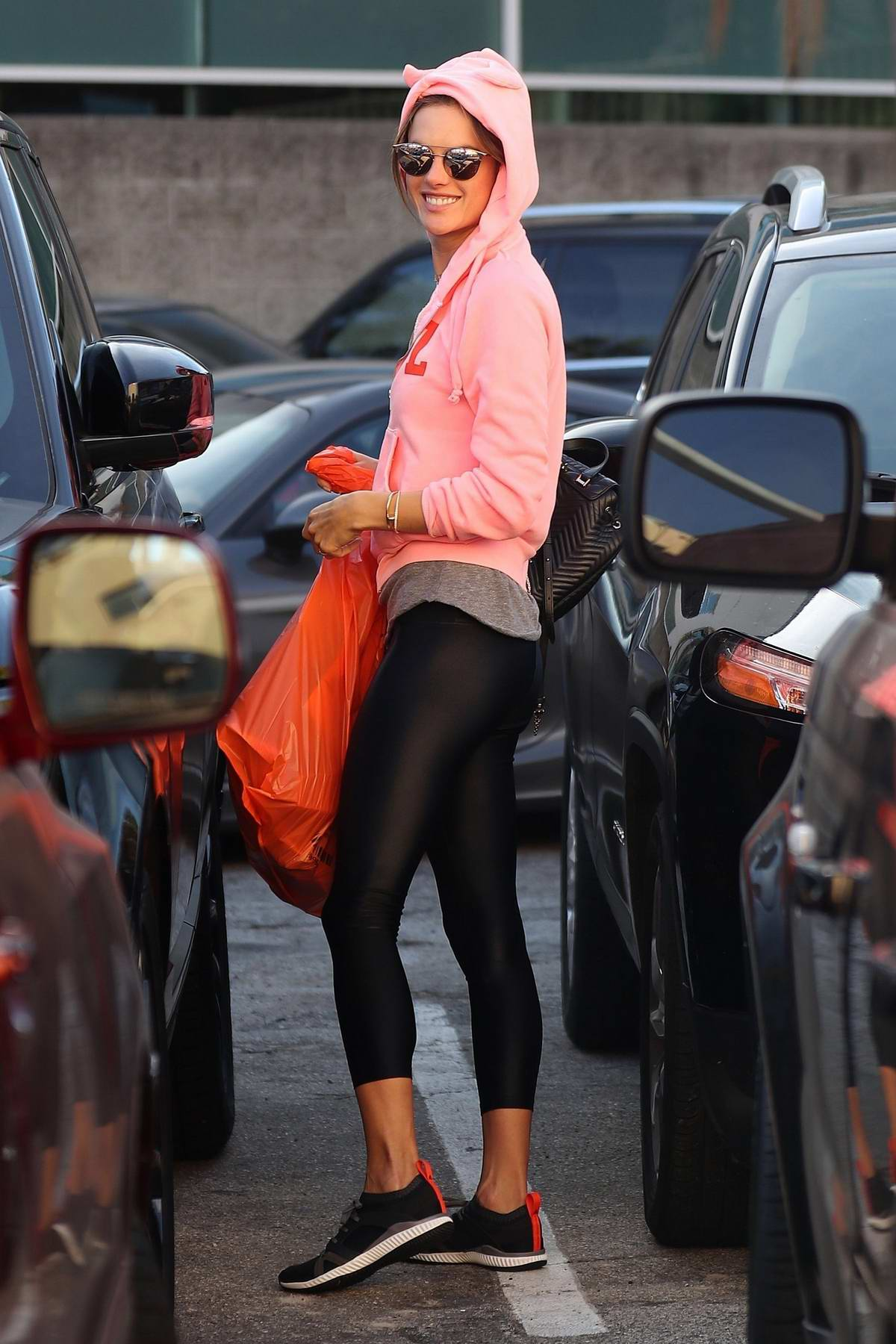 Alessandra Ambrosio steps out for some last minute Halloween shopping in Santa Monica, California