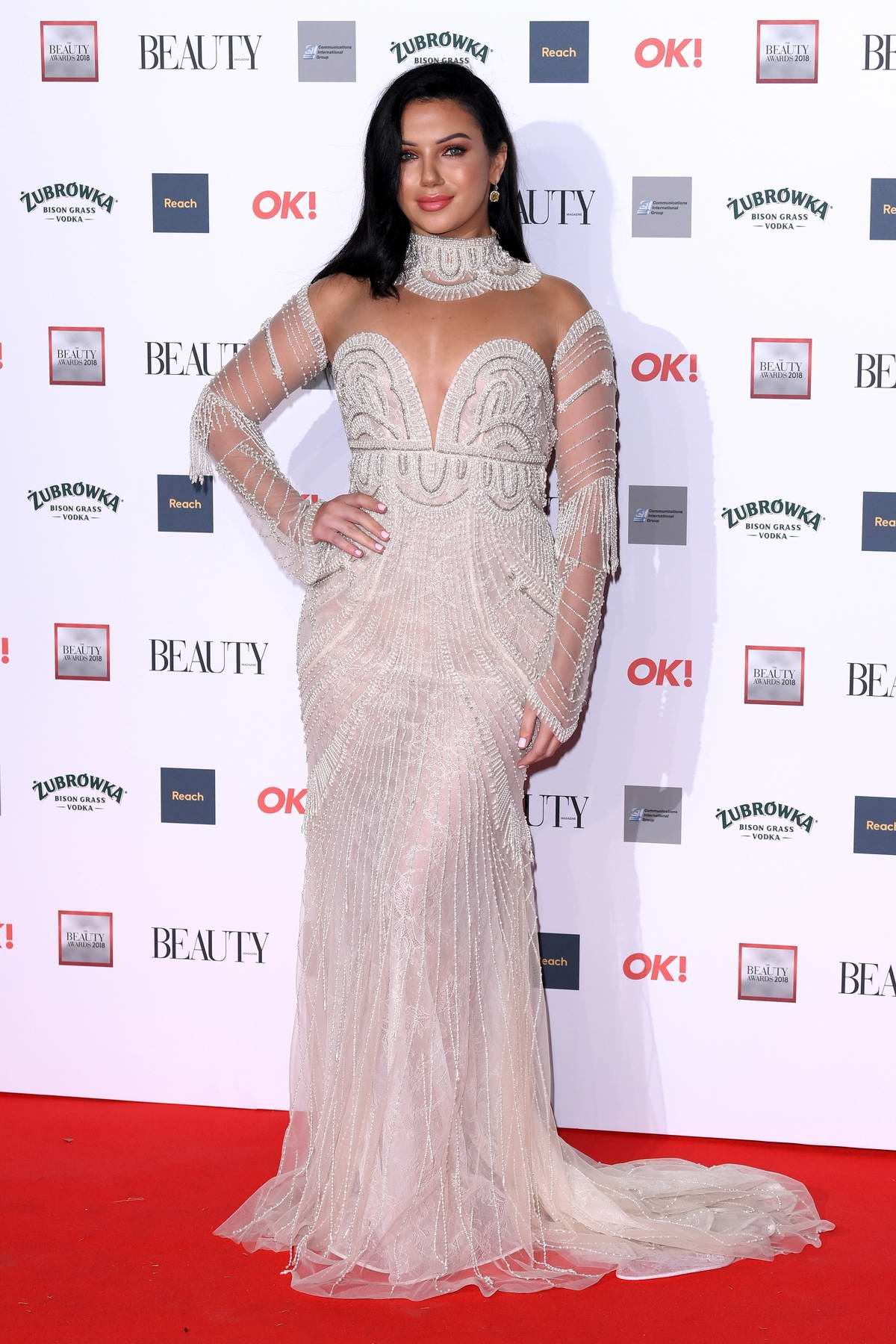 Alexandra Cane attends the OK! Beauty Awards at Park Plaza Westminster Bridge in London, UK