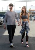 Alexis Ren and Alan Bersten are seen on Sunday arriving to the DWTS studio in Los Angeles