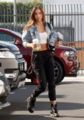 Alexis Ren shows off her toned abs as she arrives for another day of dance practice at the DWTS studio in Los Angeles