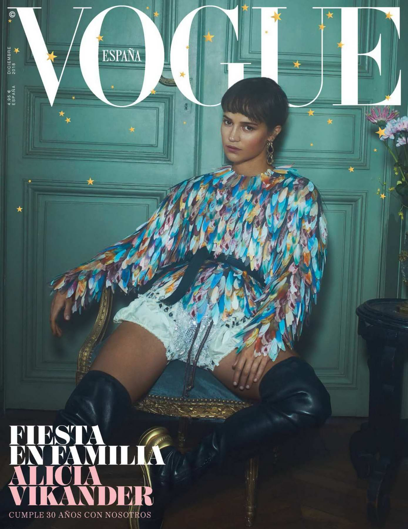 Alicia Vikander features in Vogue Magazine, España - December 2018