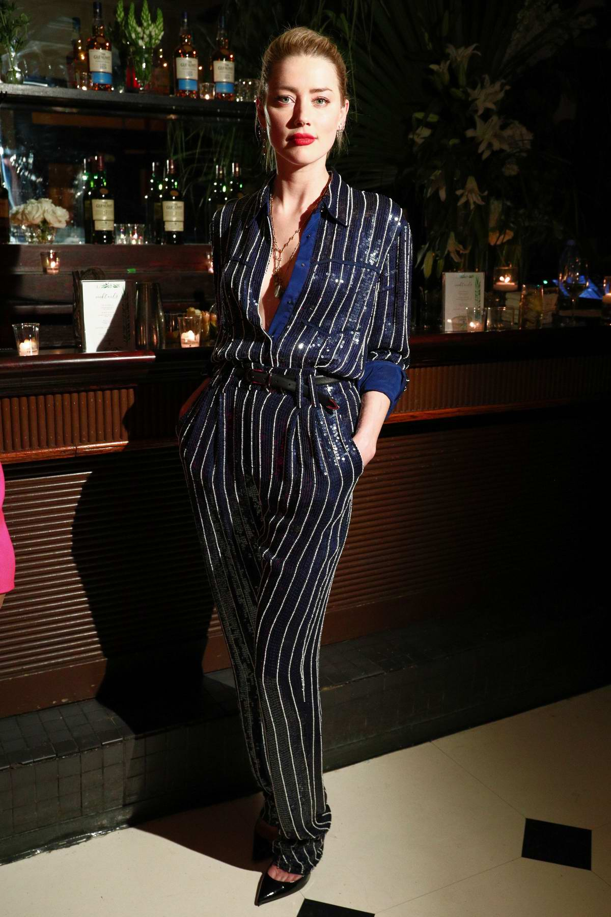 Amber Heard attends the Glenlivet Hosts Conversations For Change dinner honoring Lisa Borders in New York City