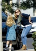 Amy Adams and husband Darren Le Gallo seen picking up their daughter from school in Los Angeles