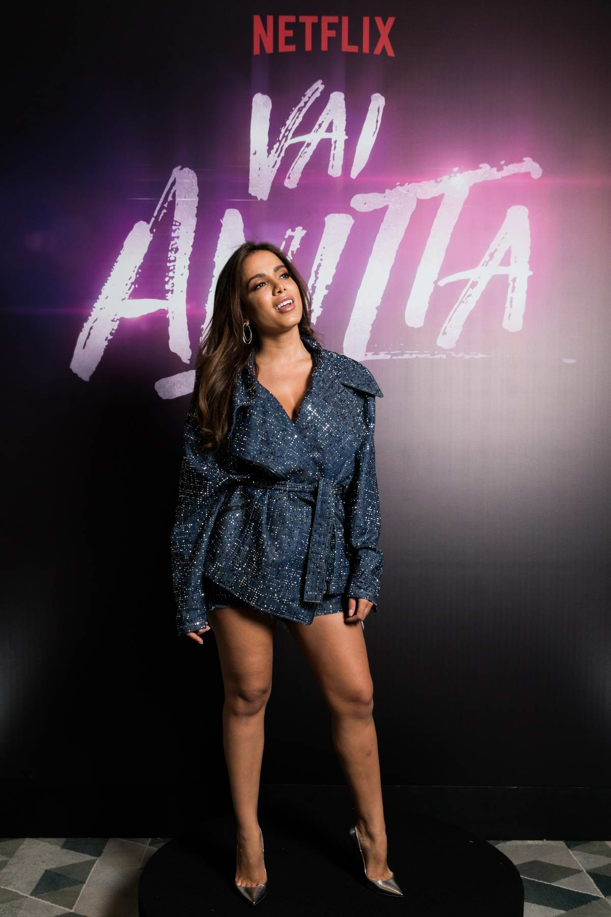 Anitta attends the Netflix Vai, Anitta! Press Conference in Sao Paulo, Brazil