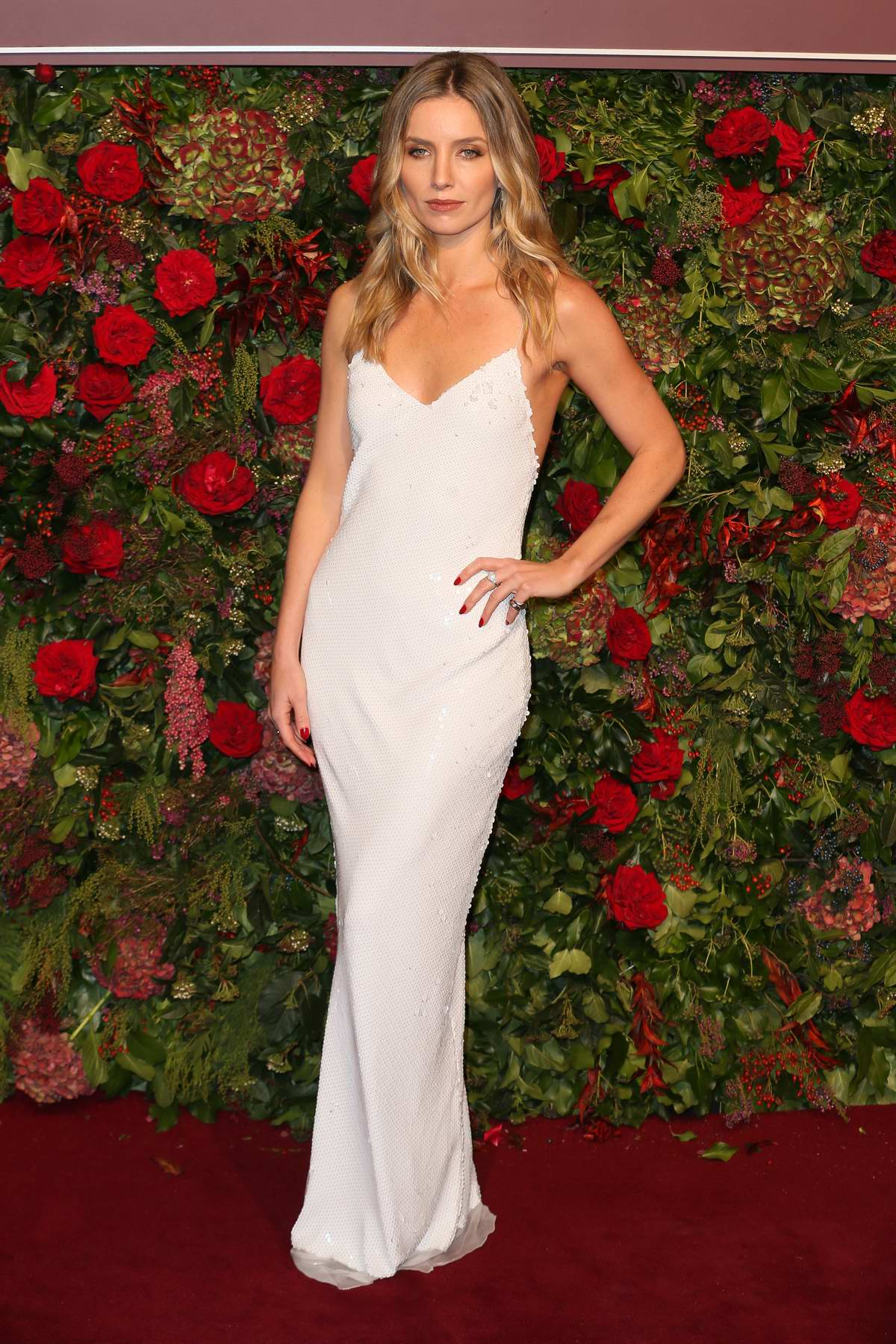 Annabelle Wallis attends the 64th Evening Standard Theatre Awards at the Theatre Royal Drury Lane in London, UK